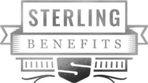 Sterling Benefits logo, an insurance brokerage company located in Kelowna, British Columbia.